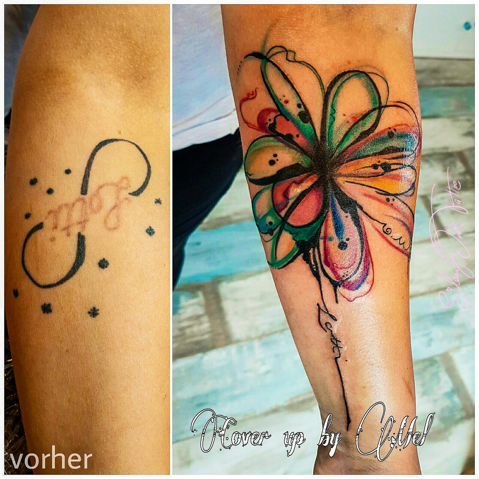 Silent Ink Tattoo - Cover-Up, Hannover, Mel, colour, bunt, neu