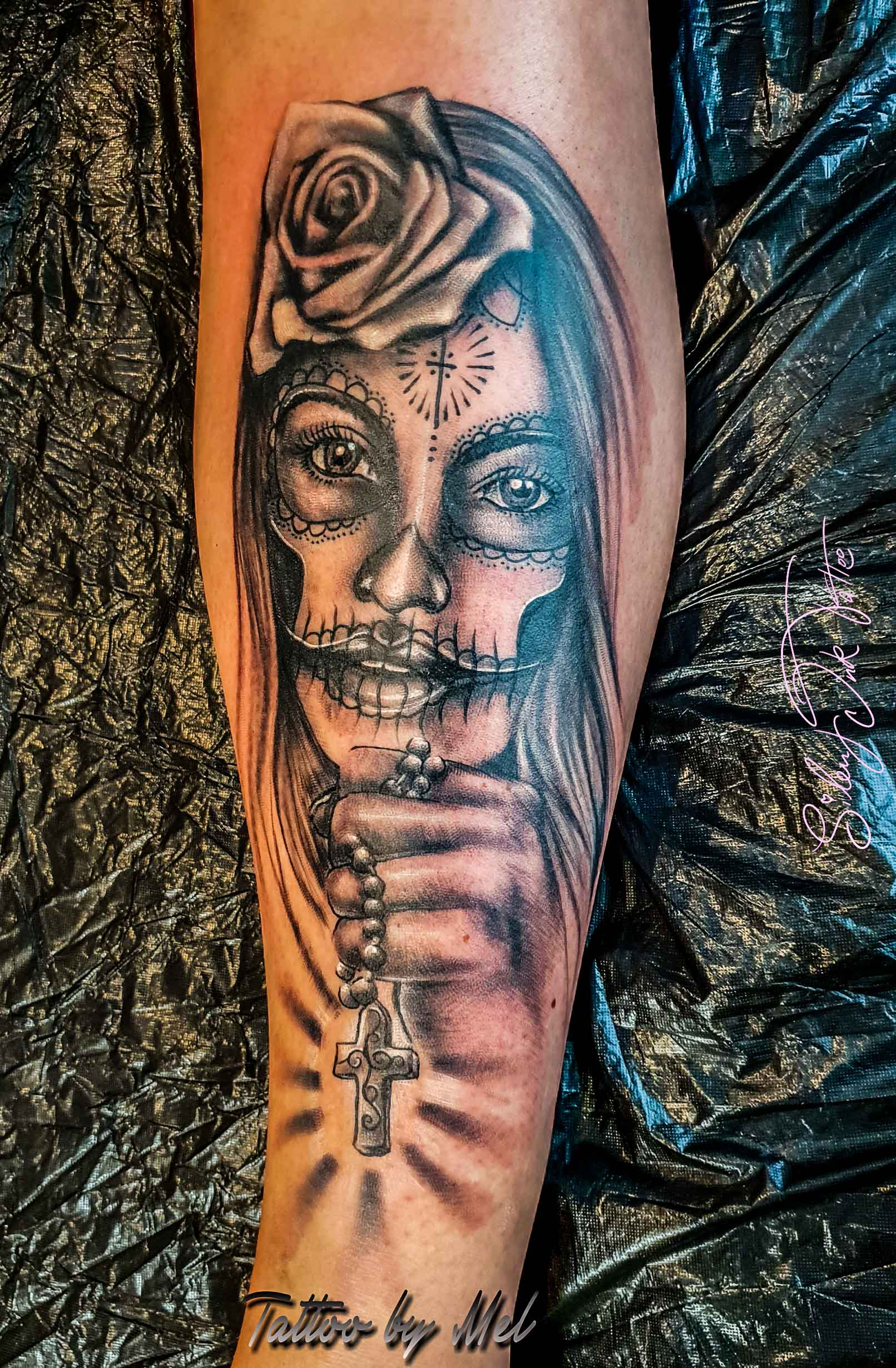 Silent Ink Tattoo, Portrait, Hannover, Mel, farbig
